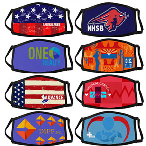 Sublimated Three Layer Face Mask